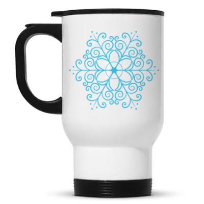 Кружка-термос Новогодняя снежинка