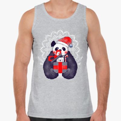 Майка Новогодняя панда и кот