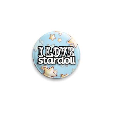 Значок 25мм I love Stardoll