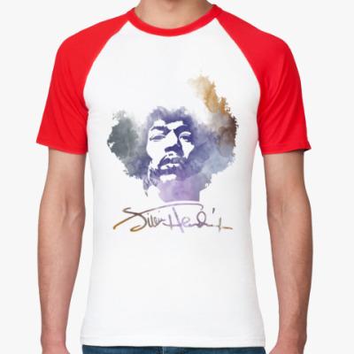 Футболка реглан  Jimi Hendrix - Джими Хендрикс