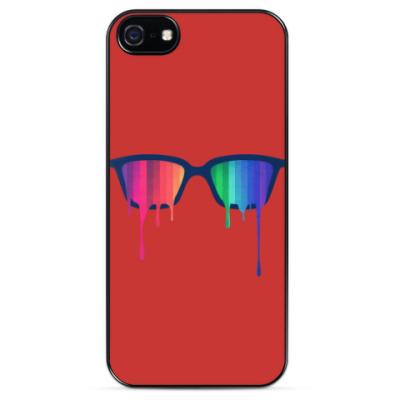 Чехол для iPhone Хипстер: очки