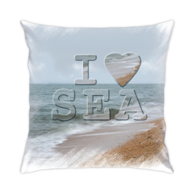 Подушка I LOVE SEA