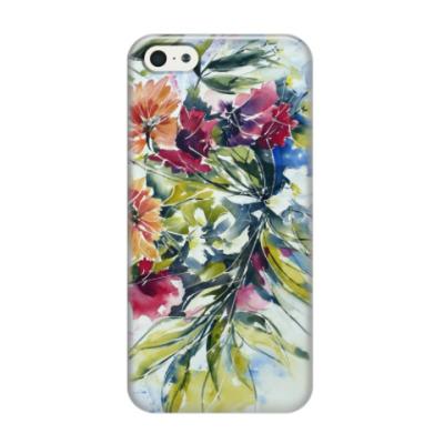 Чехол для iPhone 5/5s 'Цветы акварель'
