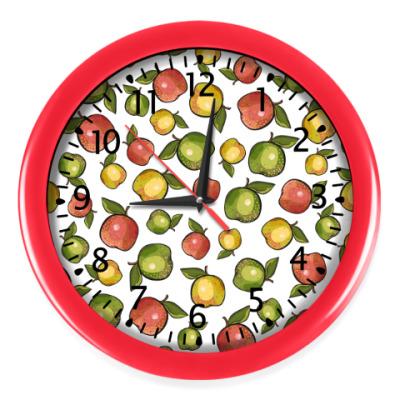 Настенные часы Яблоки