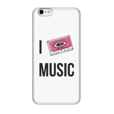 Чехол для iPhone 6/6s I Love Music
