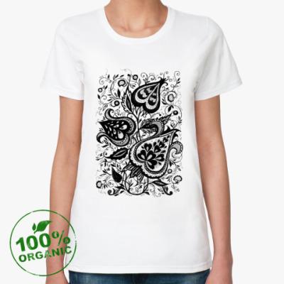 Женская футболка из органик-хлопка Цветочный орнамент