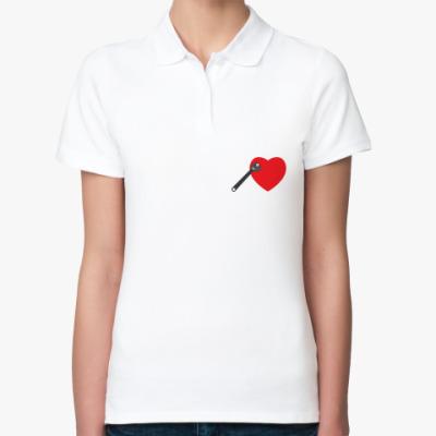 Женская рубашка поло Ключ к сердцу