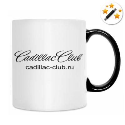 Кружка-хамелеон с чёрным лого Клуба