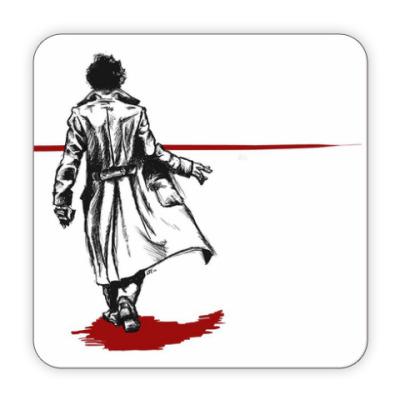 Костер (подставка под кружку) Bloody Sherlock