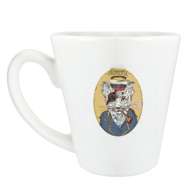 Чашка Латте Пиратский леопард