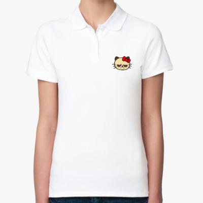 Женская рубашка поло Grumpy Kitty