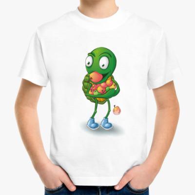 Детская футболка Добрый Черепашонок с яблоками