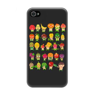 Чехол для iPhone 4/4s Фрукты, Овощи и Ягоды