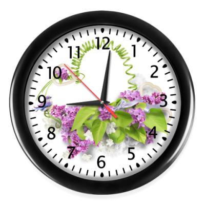 Настенные часы Букет сирени