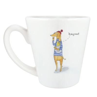Чашка Латте Люблю багеты