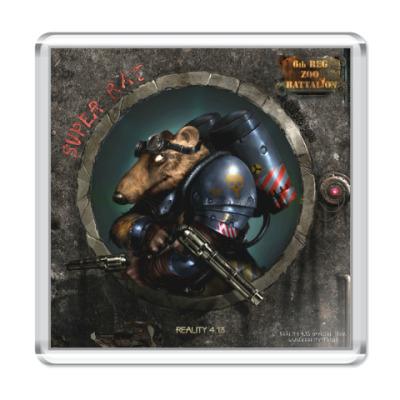 Магнит Магнит 6,5x6,5 см Super Rat