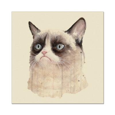 Наклейка (стикер) Grumpy Cat / Сердитый Кот