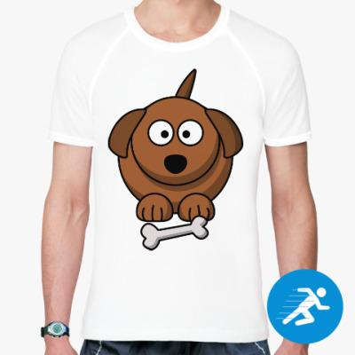 Спортивная футболка Собачка с косточкой