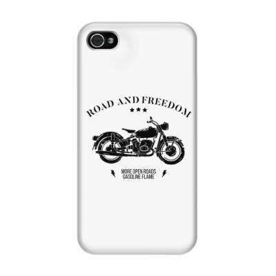 Чехол для iPhone 4/4s Король дорог (мотоцикл)