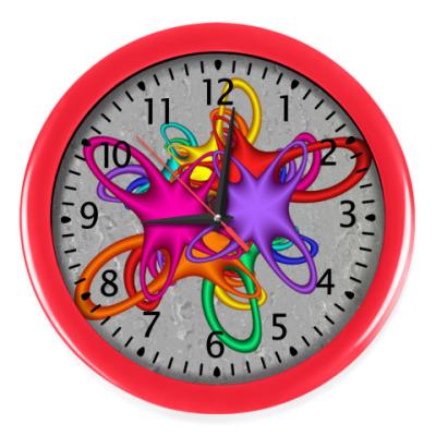Настенные часы Цветной акцент