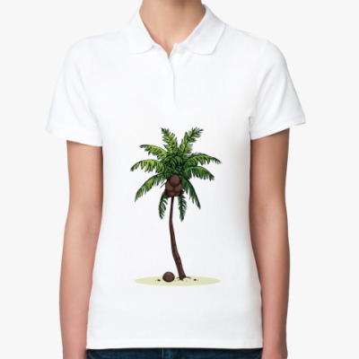 Женская рубашка поло Кокосовая пальма