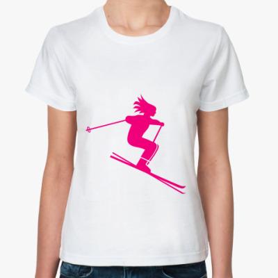 Классическая футболка лыжница