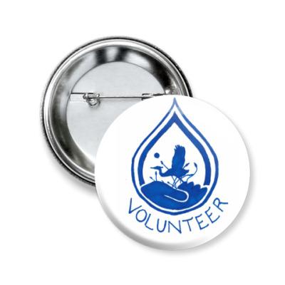Значок 50мм Volunteer