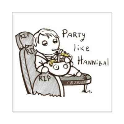 Наклейка (стикер) Party Like Hannibal ( Ганнибал )