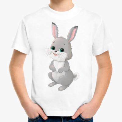 Детская футболка Серый зайчик
