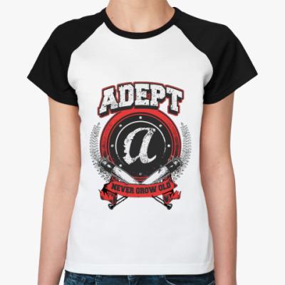Женская футболка реглан Adept