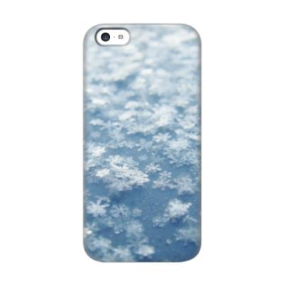 Чехол для iPhone 5c Снежинки