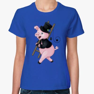 Женская футболка Cute Pig