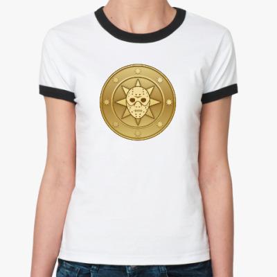 Женская футболка Ringer-T Leprocoin