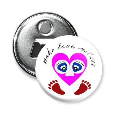 Магнит-открывашка Make Love...