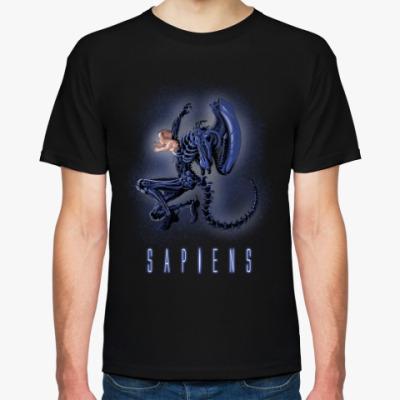 Футболка Alien Sapiens Чужой пародия