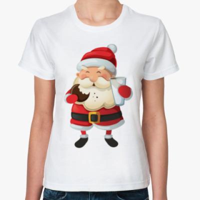 Классическая футболка Eating Santa