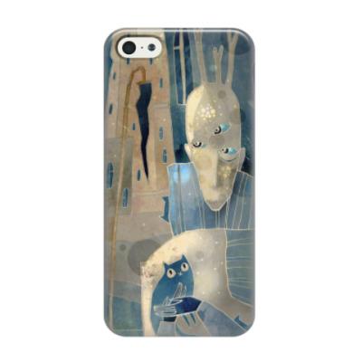 Чехол для iPhone 5/5s Человек с котятами