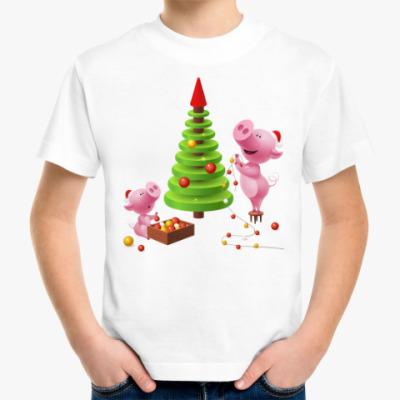 Детская футболка год Свиньи