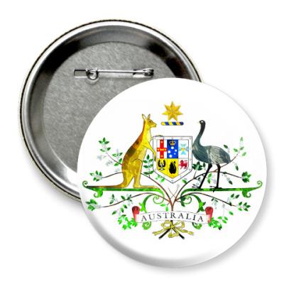 Значок 75мм Герб Австралии