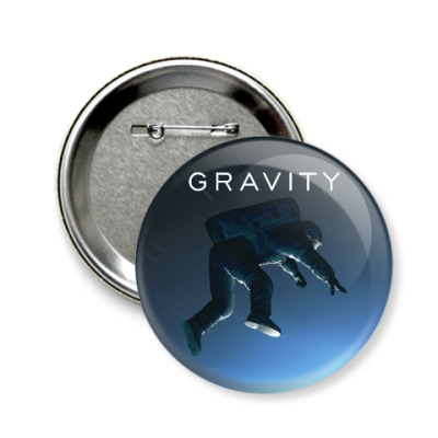 Значок 58мм Gravity