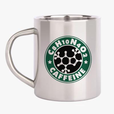 Кружка металлическая Кофеин