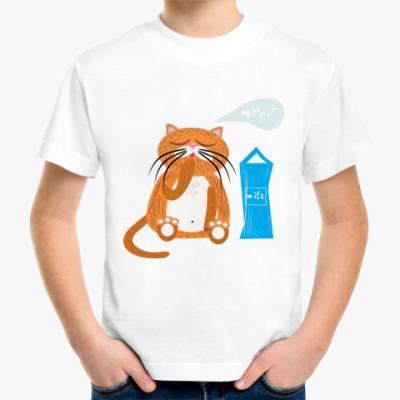 Детская футболка  'Кот'