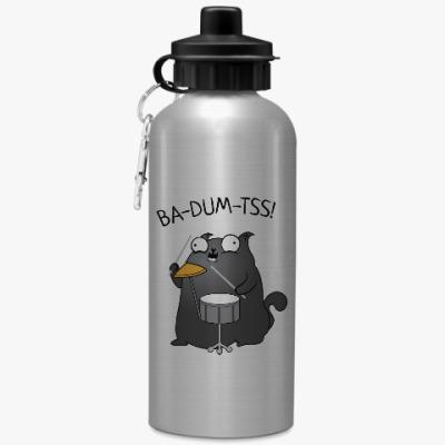 Спортивная бутылка/фляжка Кот Ba-Dum-Tss!