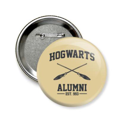 Значок 58мм Hogwarts Alumni