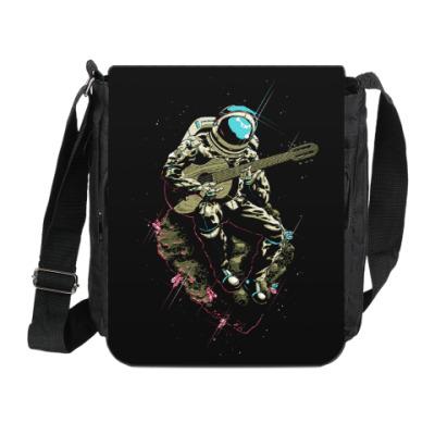 Сумка на плечо (мини-планшет) Космонавт с гитарой