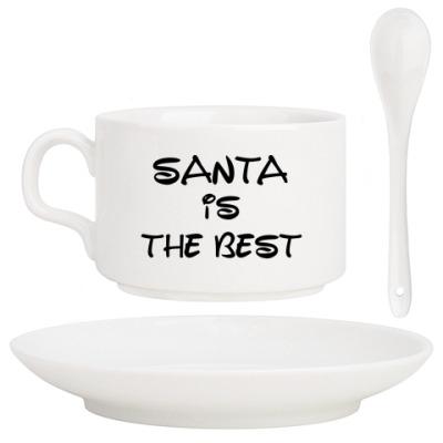 Кофейный набор Надпись Santa is the best