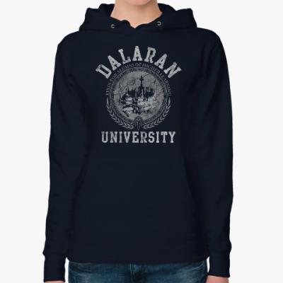 Женская толстовка худи Университет Даларана. WoW