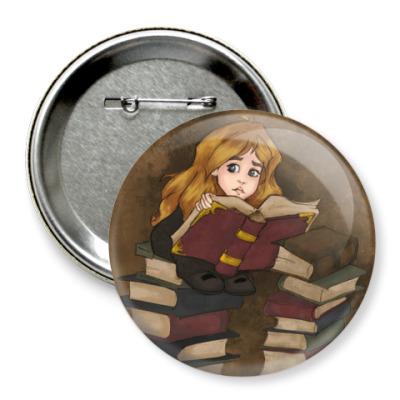 Значок 75мм Гермиона. Harry Potter