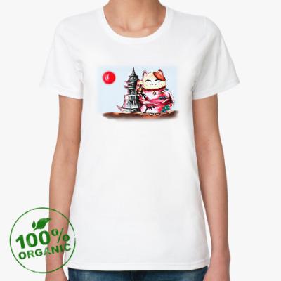Женская футболка из органик-хлопка Удача ЭКО