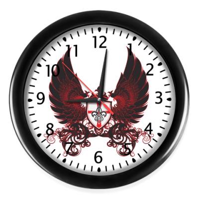 Настенные часы black and red